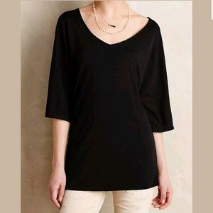 Deletta Nocturnus Kimono Top in Black